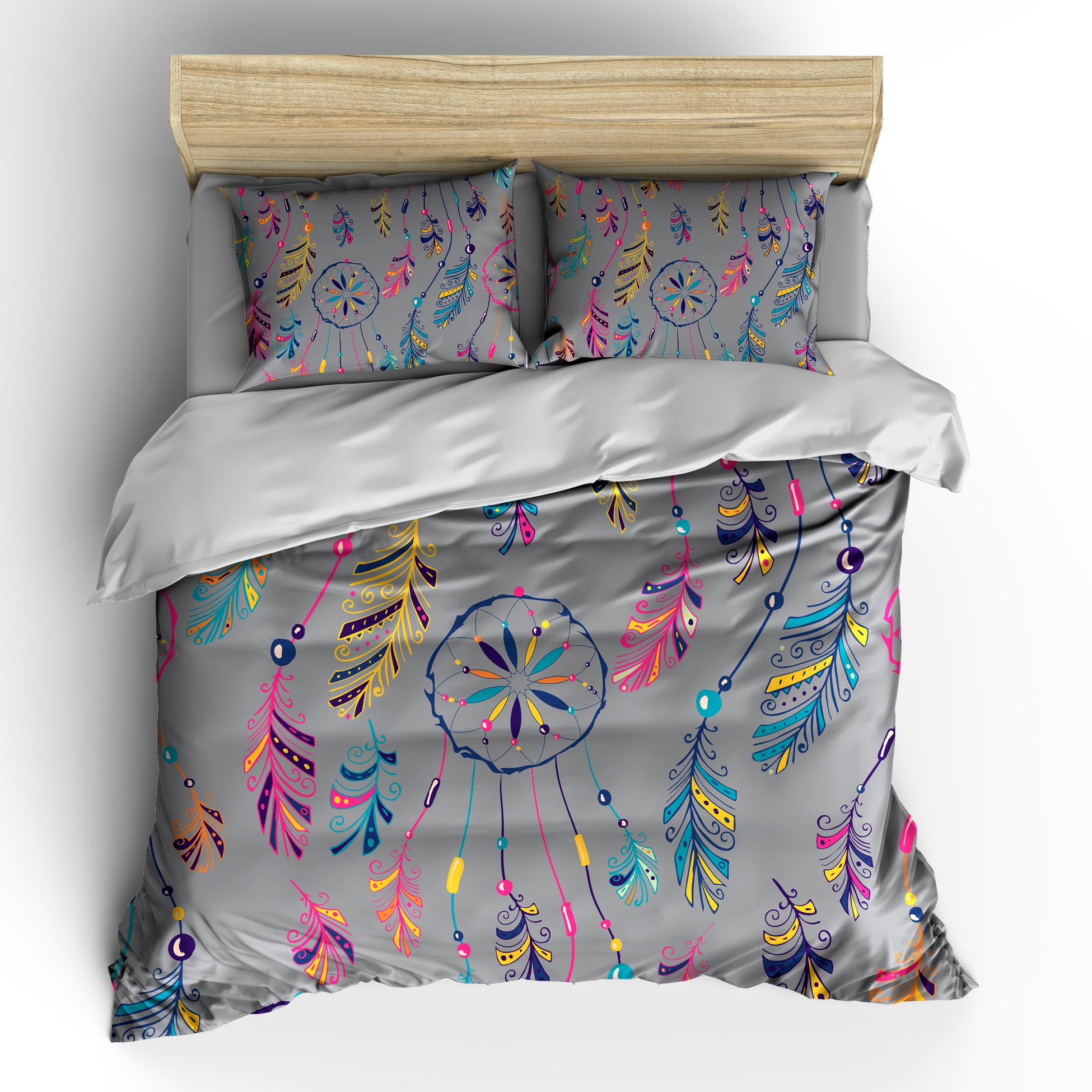 Dreams Catcher Cool Grey Bedding Set, Duvet or Comforter