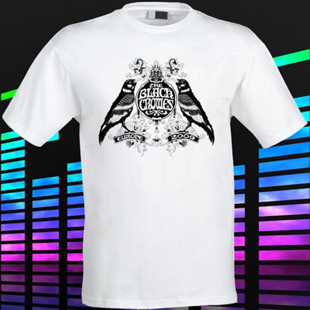 Black Crowes Tour Euro Logo Rock Legend Men/'s White T-Shirt Size S to 3XL