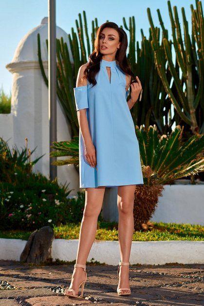 Kleid mit ausgeschnittenen Ärmeln in 2020   Kleider, Mode ...