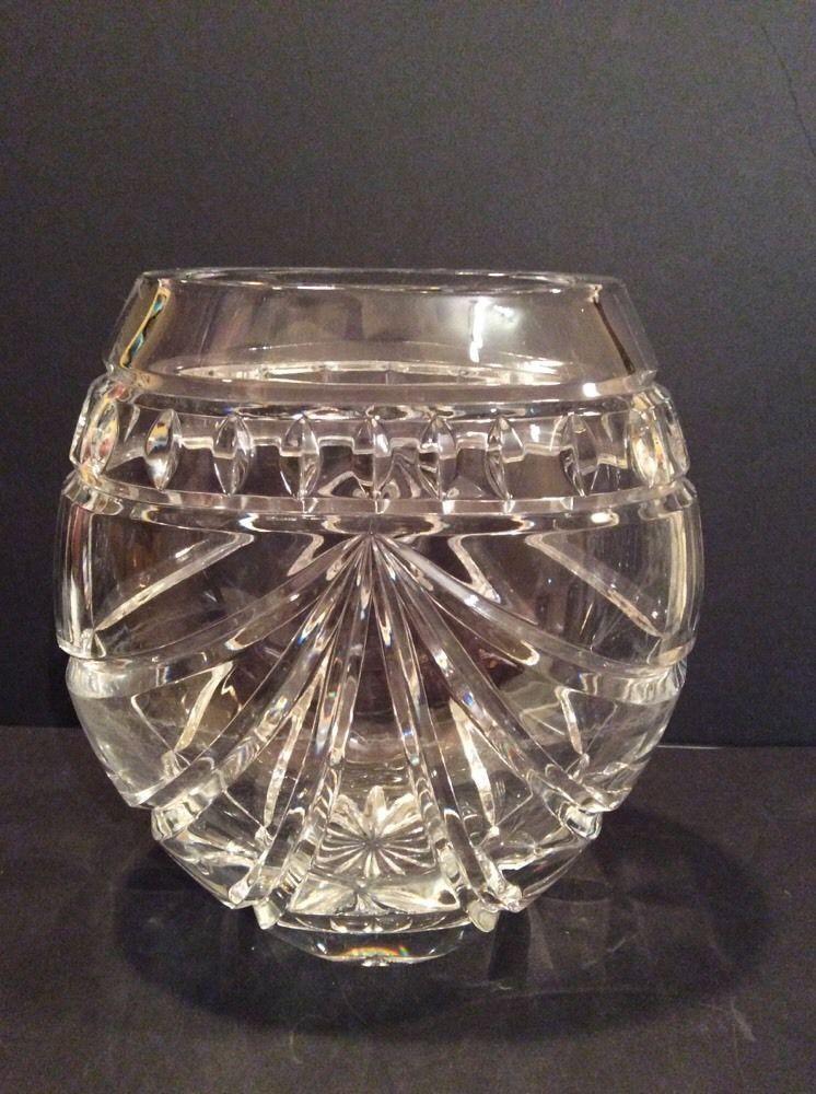 Vintage Waterford Crystal Vase Overture Pattern Vase 8 X 7 3 4 Inches Waterford Crystal Vase Crystal Vase Waterford Crystal