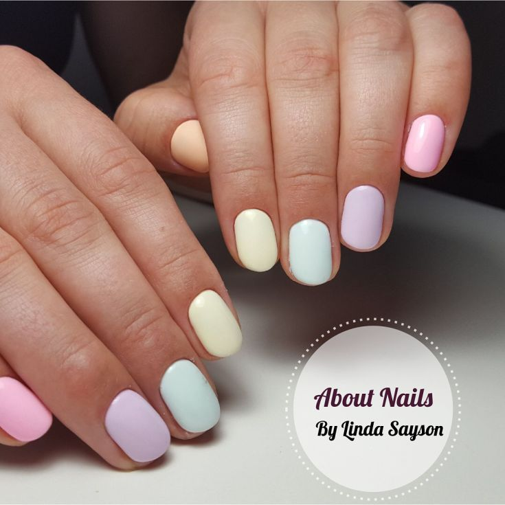 Best 100+ Pastel colors simple nails ideas 2018