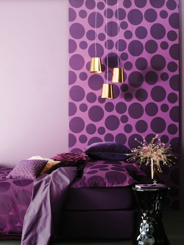 16 id es d co murale originale en bleu et violet. Black Bedroom Furniture Sets. Home Design Ideas