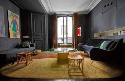 Paris apartment of Charlotte Gainsbourg and Yvan Attal, designed by Florence Lopez