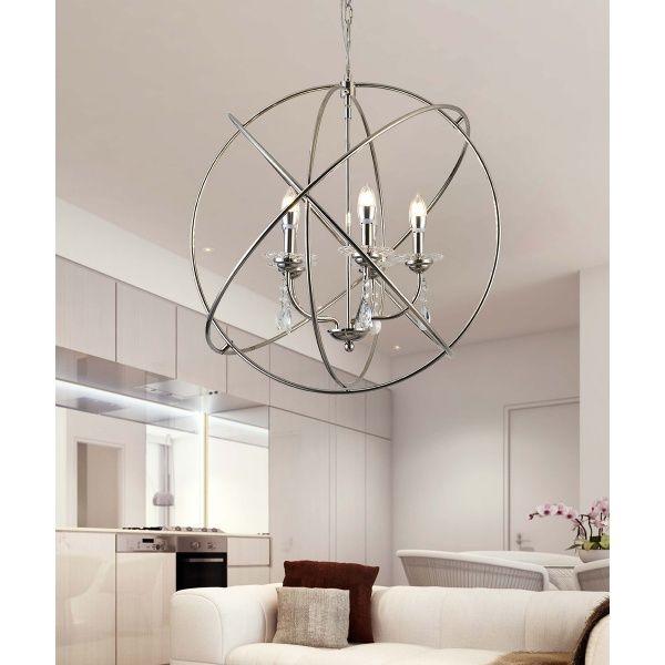 5-Light Modern Design Decorative Ball Style Chandelier Lamp by Ola Living