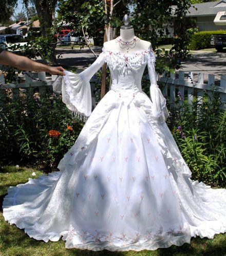 Pink Rosebud Off Shoulder Romantic Fantasy Gown Custom