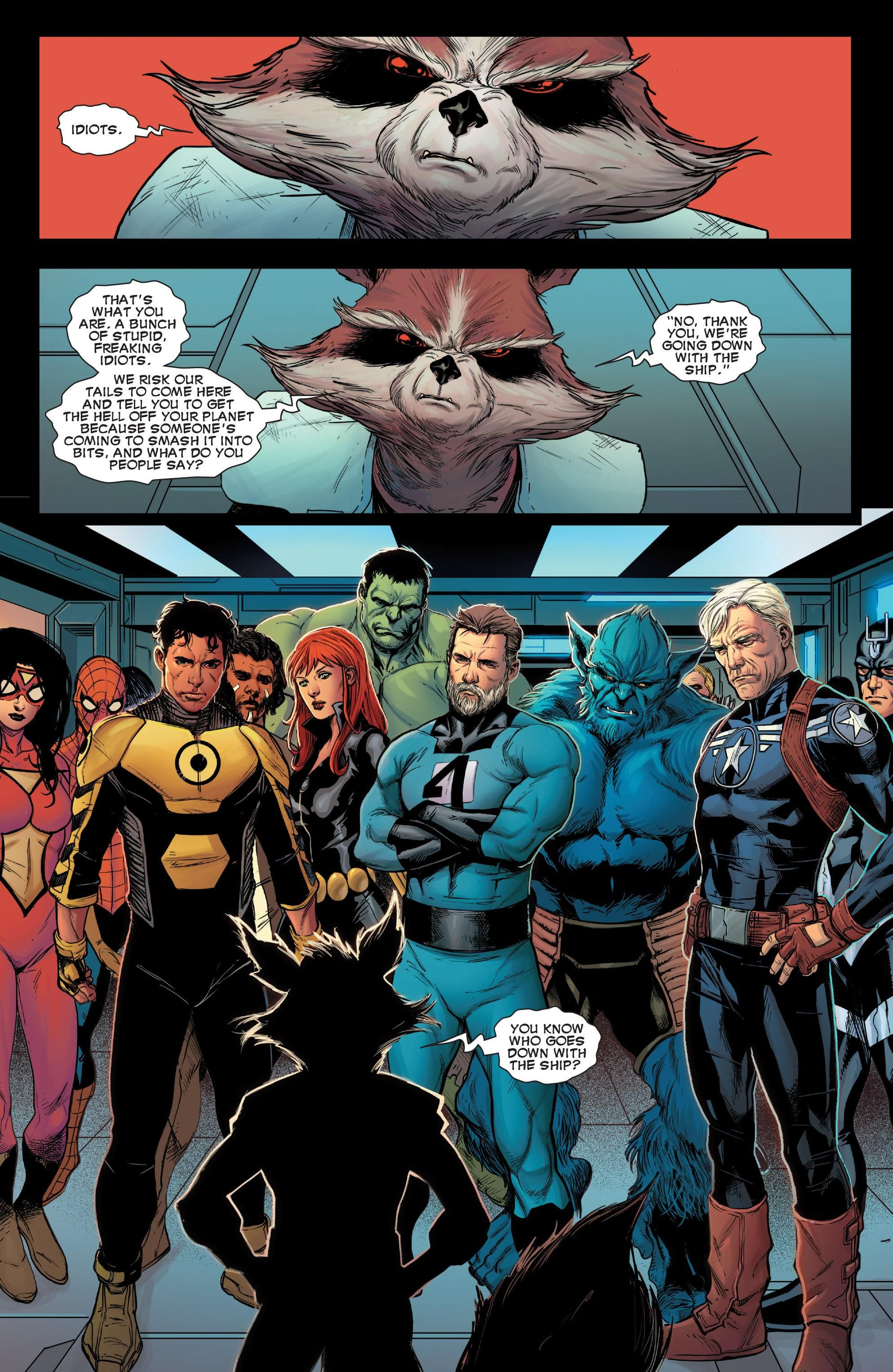Avengers Time Runs Out Rocket's Speech is Awesome (With