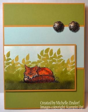 Fox Resting – Stampin' Up! Card
