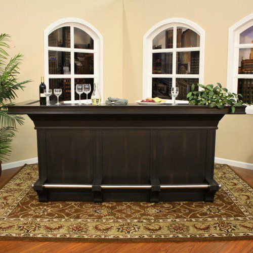 AHB Calcutta Home Bar - Peppercorn: Furniture : Walmart.com
