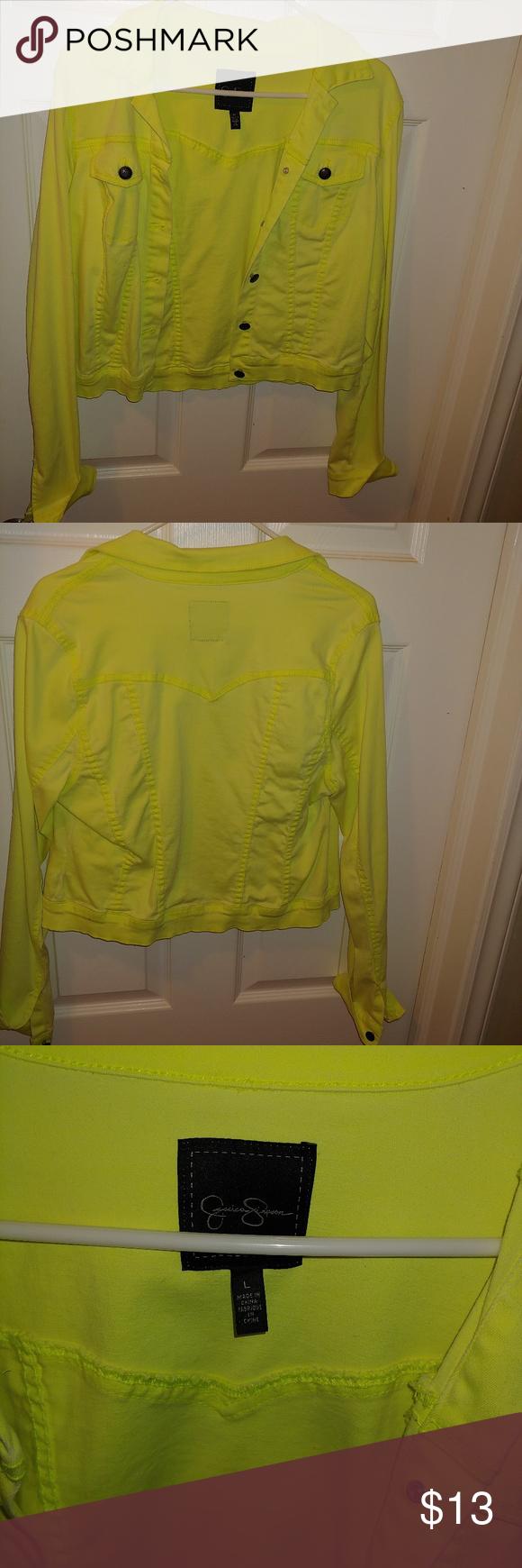 Jessica Simpson Neon Green Denim Jacket Green Denim Jacket Neon Green Denim Jacket [ 1740 x 580 Pixel ]