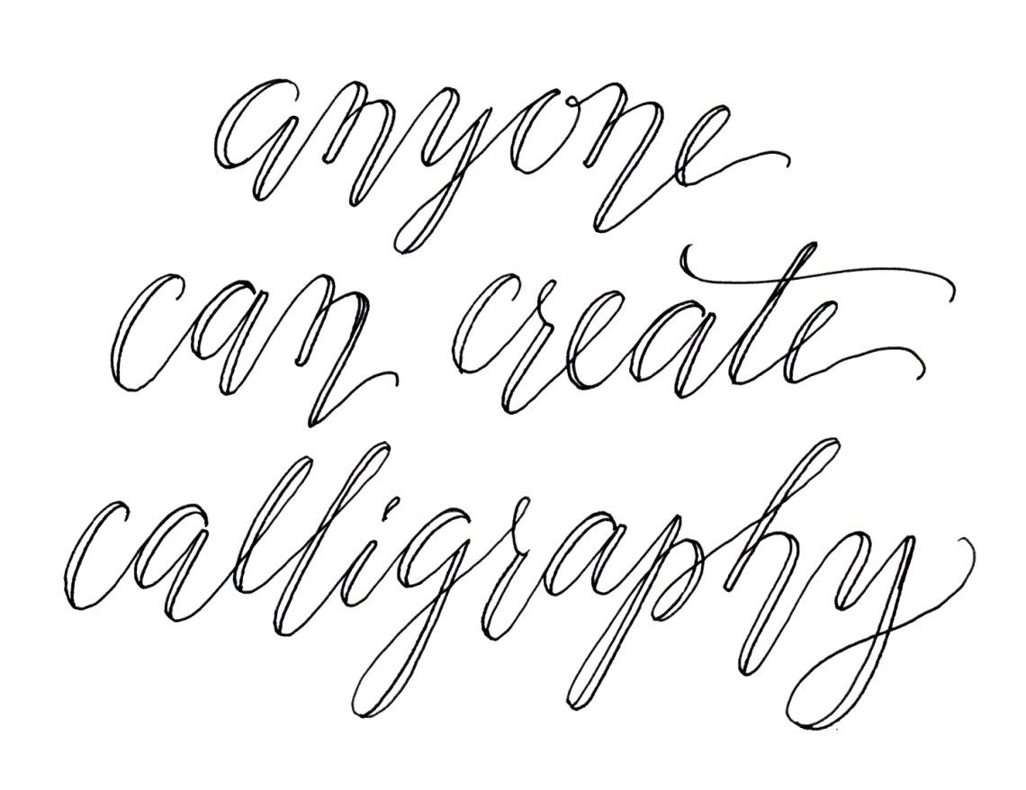 Faux Calligraphy Tutorial