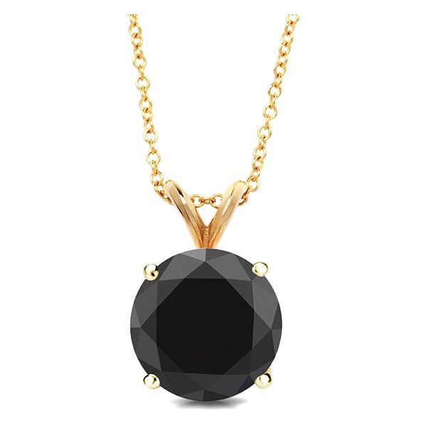 Best Silver Black Sapphire & Gold Round Pendant Necklace ($13) ❤ liked on Polyvore featuring jewelry and necklaces