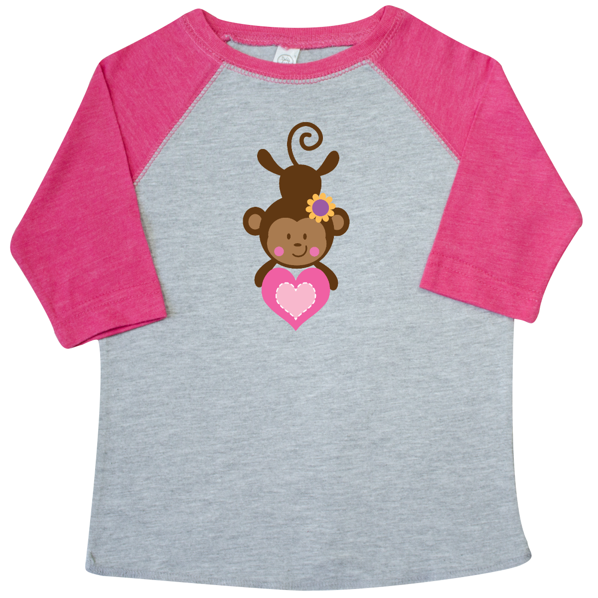 inktastic Valentine Heart Monkey Toddler T-Shirt