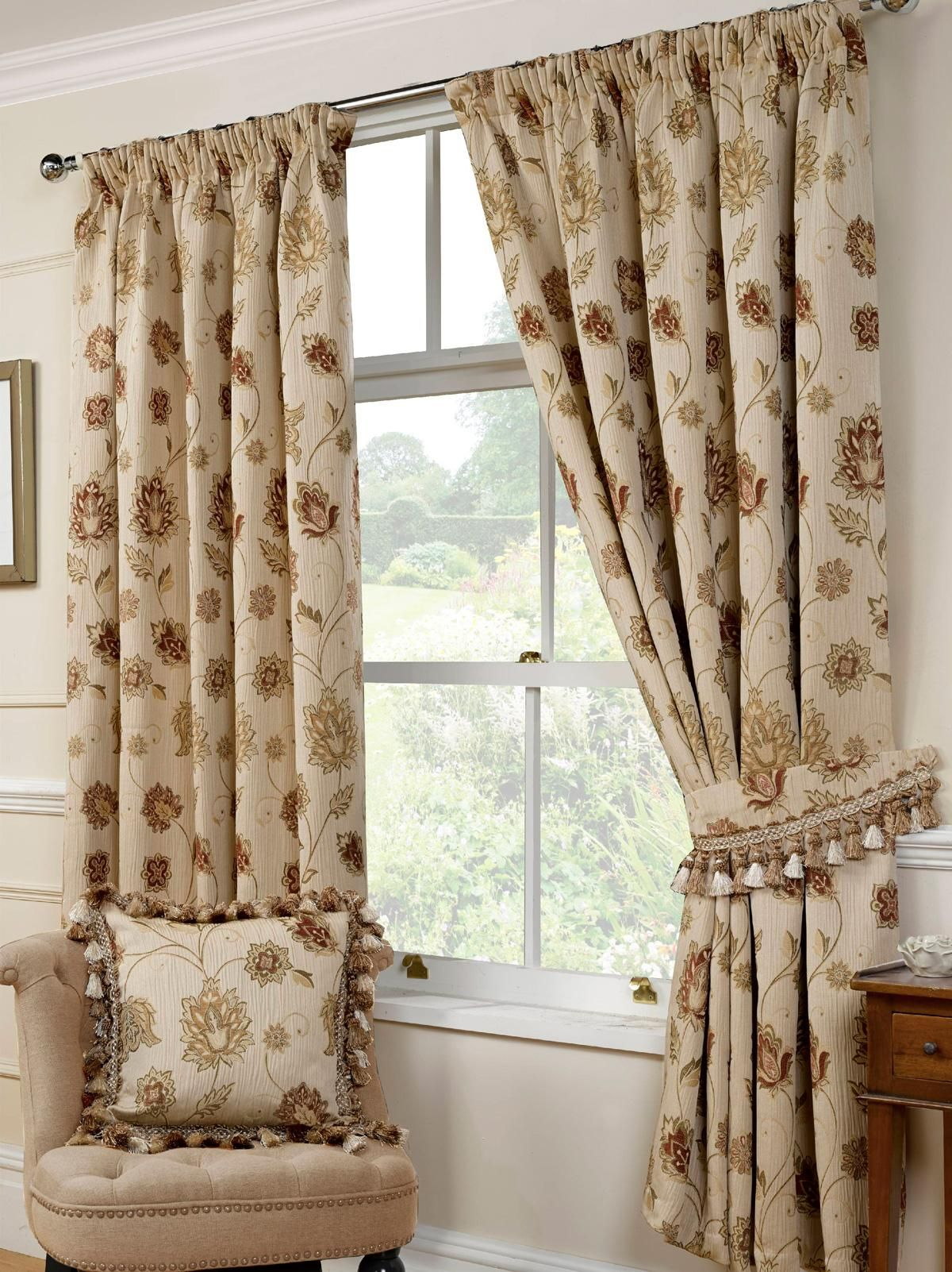 of curtains ring product fabric made striped curtain eyelet house studio ready g olive top campello lined
