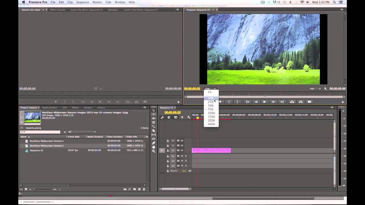 How to Import Still Photos into Adobe Premiere Pro