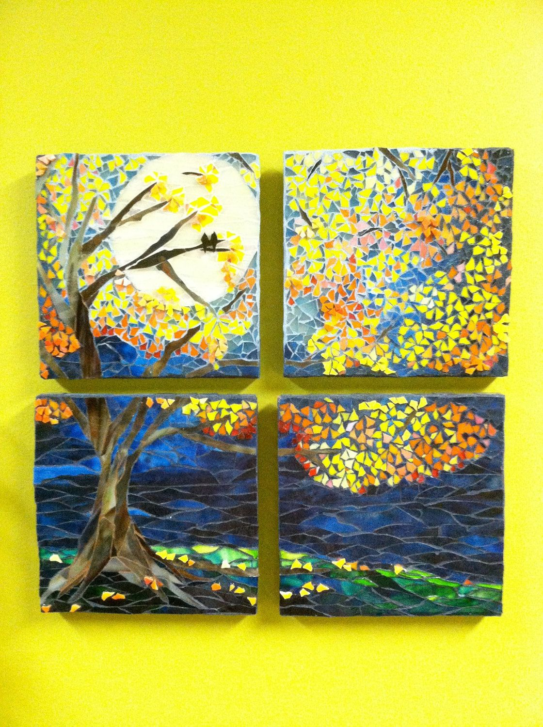 Mosaic Tree Wall Decor | Mosaics, Wall decor and Walls