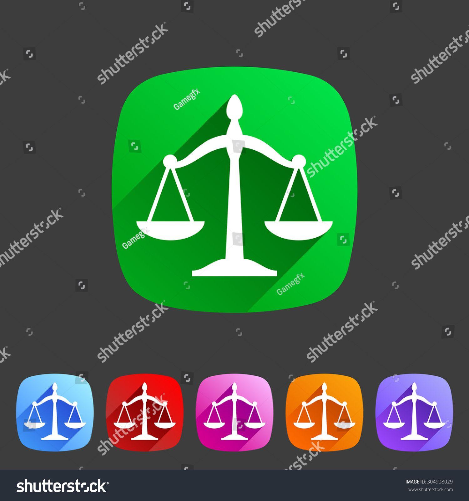 Law Balance Icon Flat Web Sign Symbol Logo Label Set Ad Affiliate Flat Web Icon Law Flat Web Symbol Logo Responsive Website Template