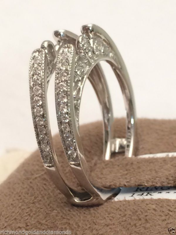 Jacket Vintage Cathedral Ring Wrap Diamonds Guard Solitaire