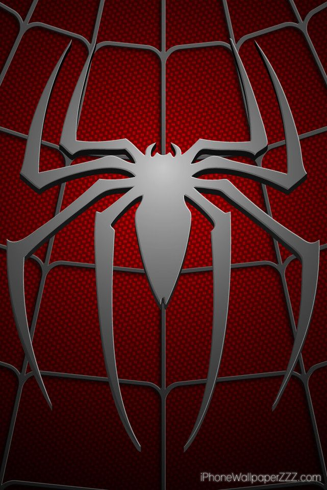 spiderman logo in chest red costum hd wallpaper for iphone 4 and 4s