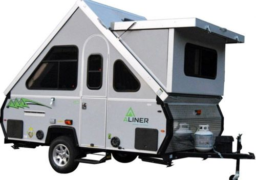 2017 Aliner LXE A-frame travel trailer with hard-side dormers is ...