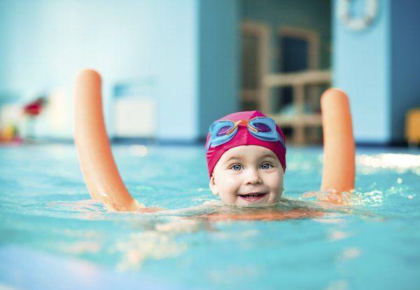 Teaching a Toddler to Swim Swimming