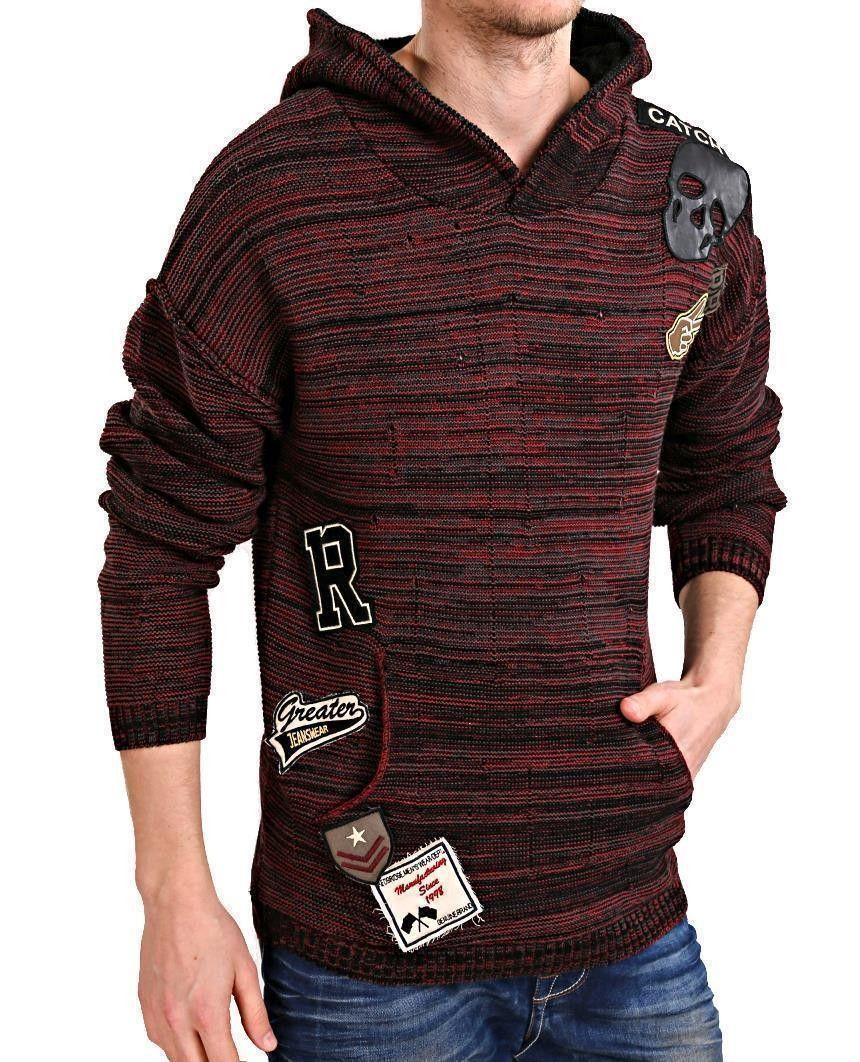 e45af94f9173e2 Redbridge Herren Strickpullover Kapuzenpullover Hoodie Sweatshirt ...