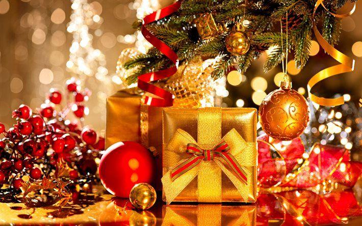 Christmas, New Year, Christmas gifts, Christmas balls