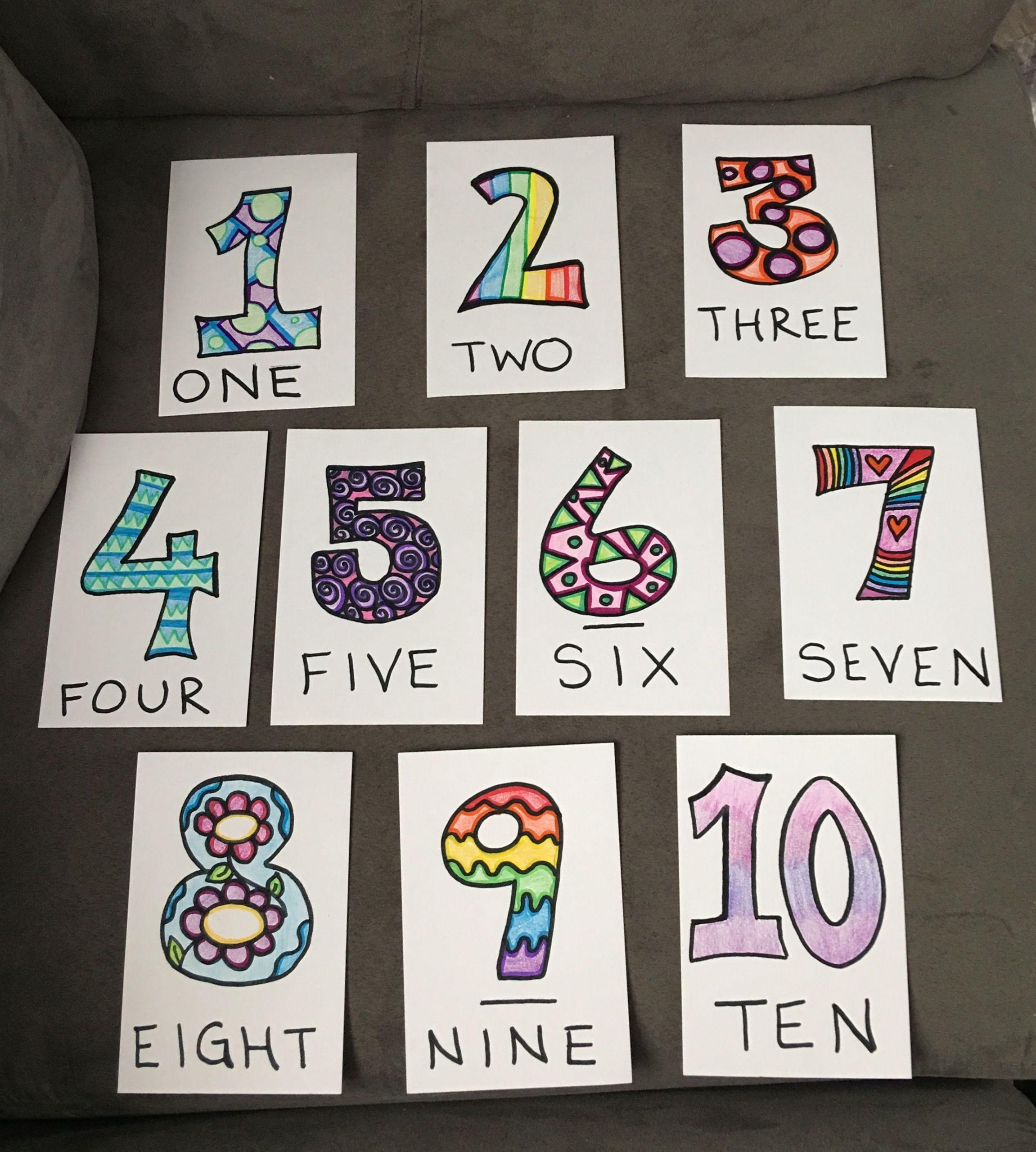 3 Preschool Worksheets Videos Diy Diy Number Flashcards