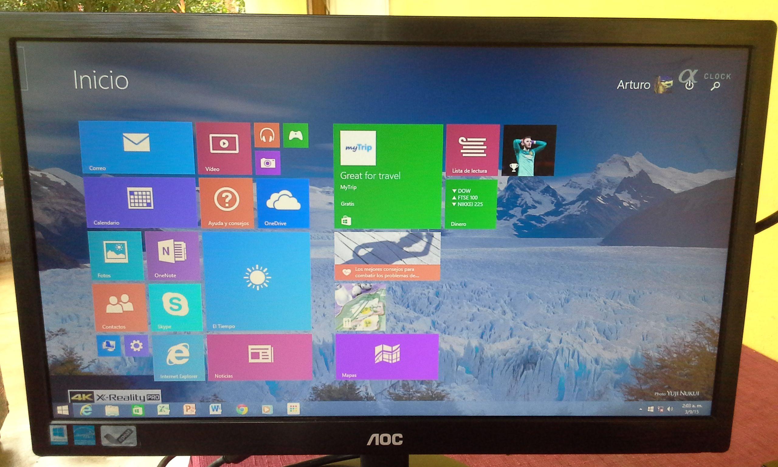 Bueno después de realizar todos los pasos veremos la pantalla de inicio de el windows 8