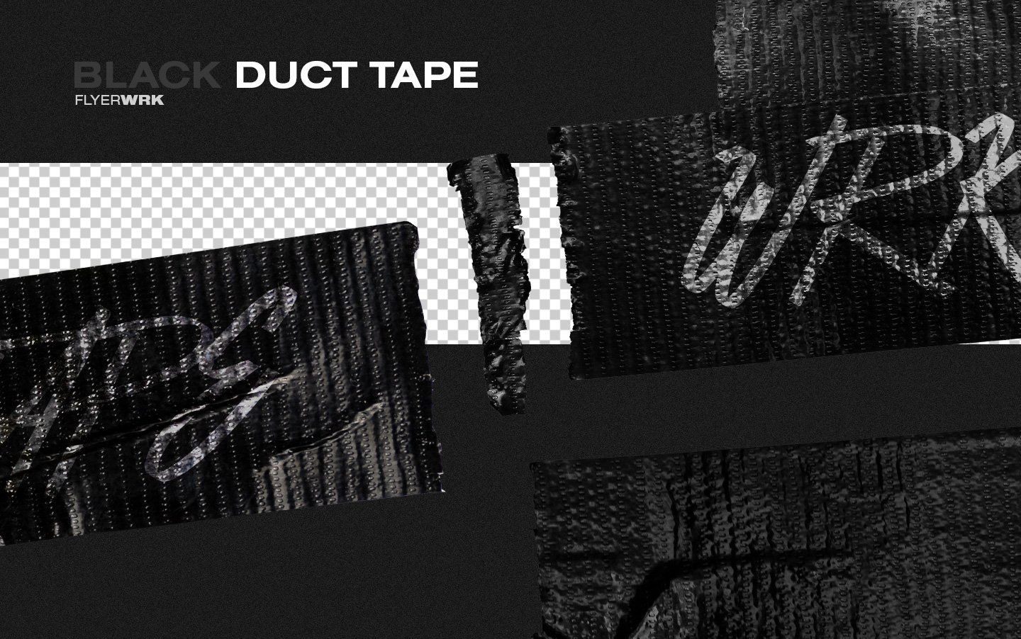 Isolated Adhesive Tape Pieces Adhesive Tape Black Duct Tape Packaging Tape