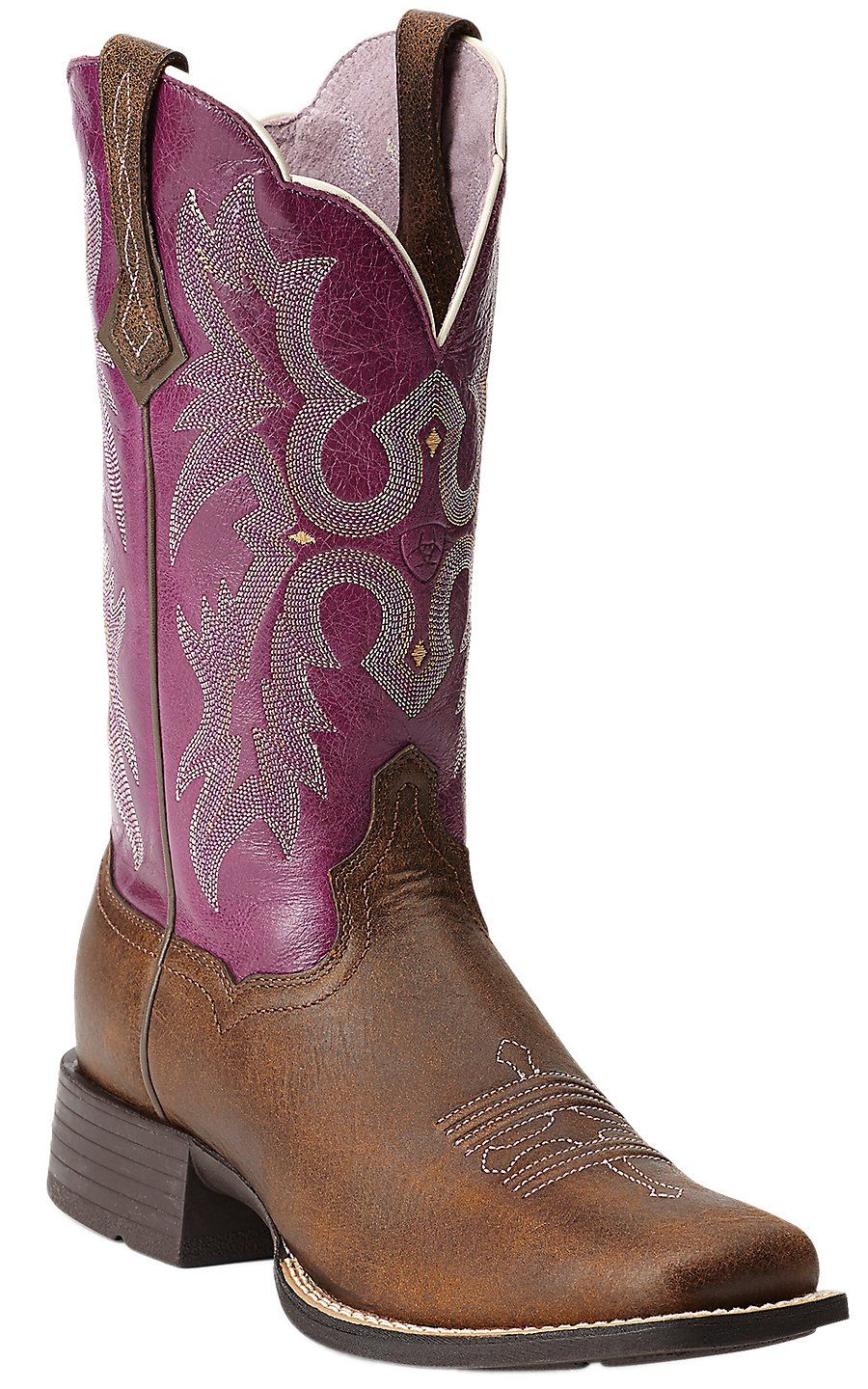 Ariat 174 Tombstone 174 Women S Vintage Bomber Brown With Plum