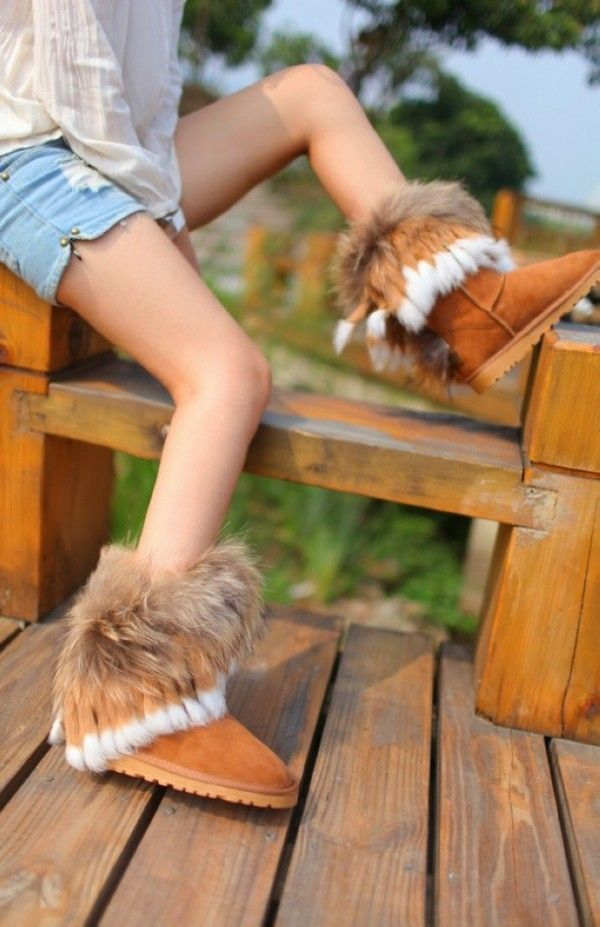 2014 Ugg fox fur ankle boots that all girls would like to wear in ...