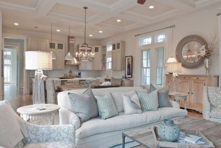 77+ Comfy Coastal Living Room Decorating Ideas images