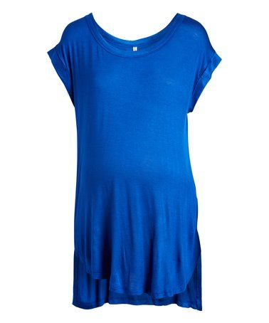 Another great find on #zulily! Royal Blue Maternity Scoop Neck Tee #zulilyfinds