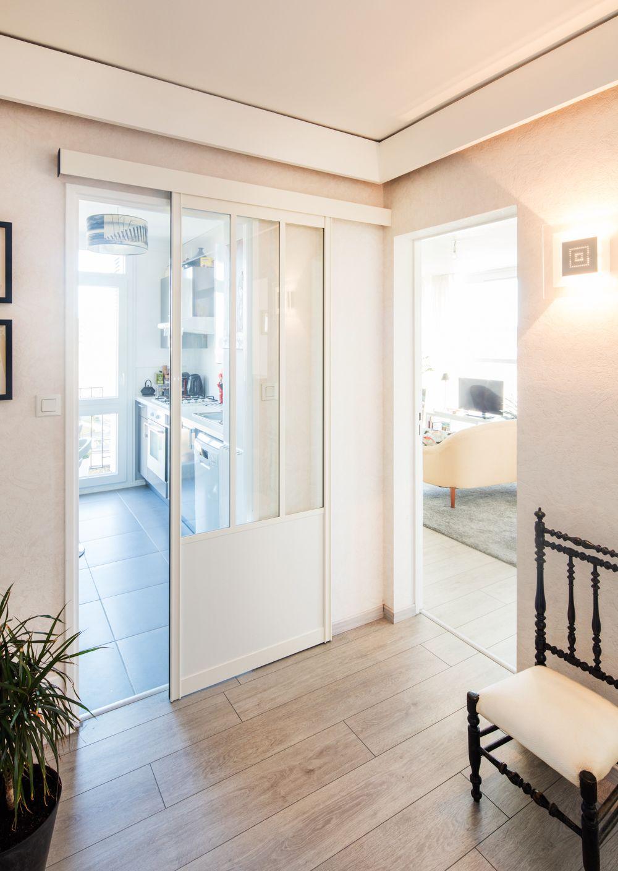 Porte coulissante Atelier sur mesure en aluminium Blanc. Existe aussi en  Anthracite, Sable et autres couleurs Sur-demande. 8f969e06855