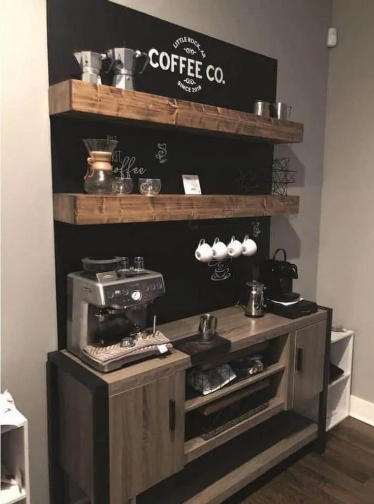 70 best coffee bar ideas for all coffee lovers 38 in 2020   Coffee bar home, Coffee bar design ...