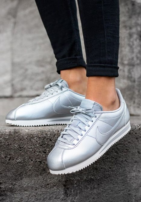 info for b01fe fc7c5 Nike Cortez Silver Sneakers