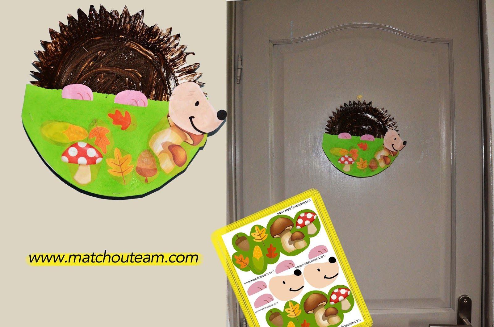 Petit h risson en assiette en carton bricolage enfant pinterest assiette carton carton et - Bricolage maternelle ...