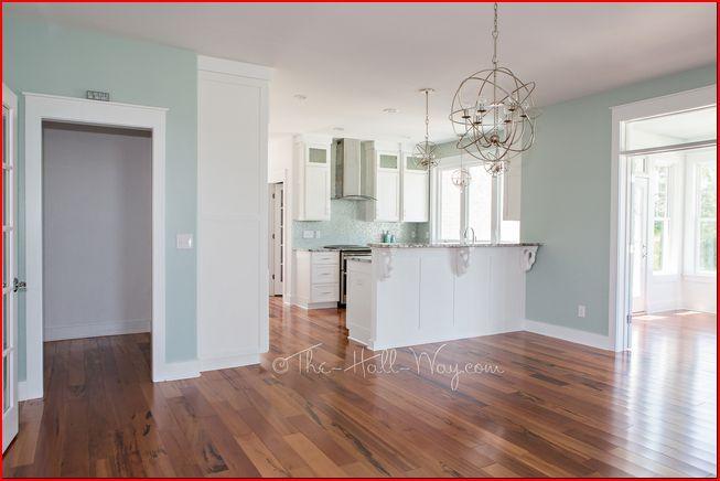 Sherwin Williams Copen Blue Kitchen W/ White Cabinets
