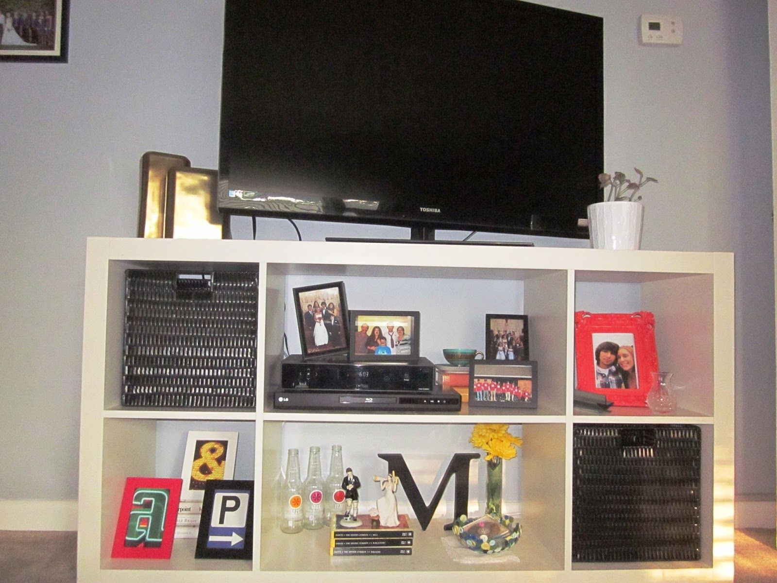 Cape Cod Creativity : Bookshelf To Media Console Ikea Expedit As A TV Stand