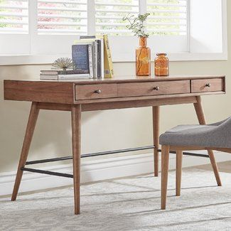 Mercury Row Athey Solid Wood Desk Furniture Home Office