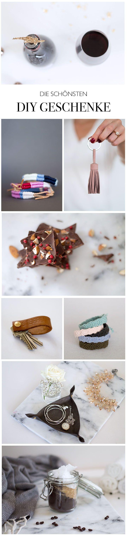 DIY Geschenke zum selber machen Armbändchen Lederquasten Schlüsselanhänger etc.