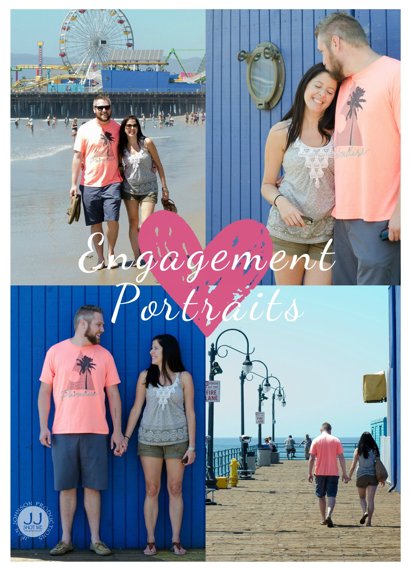 Engagement Portraits | Summer time photography | Boardwalk portraits | Jean Johnson Productions // www.jjshotme.com