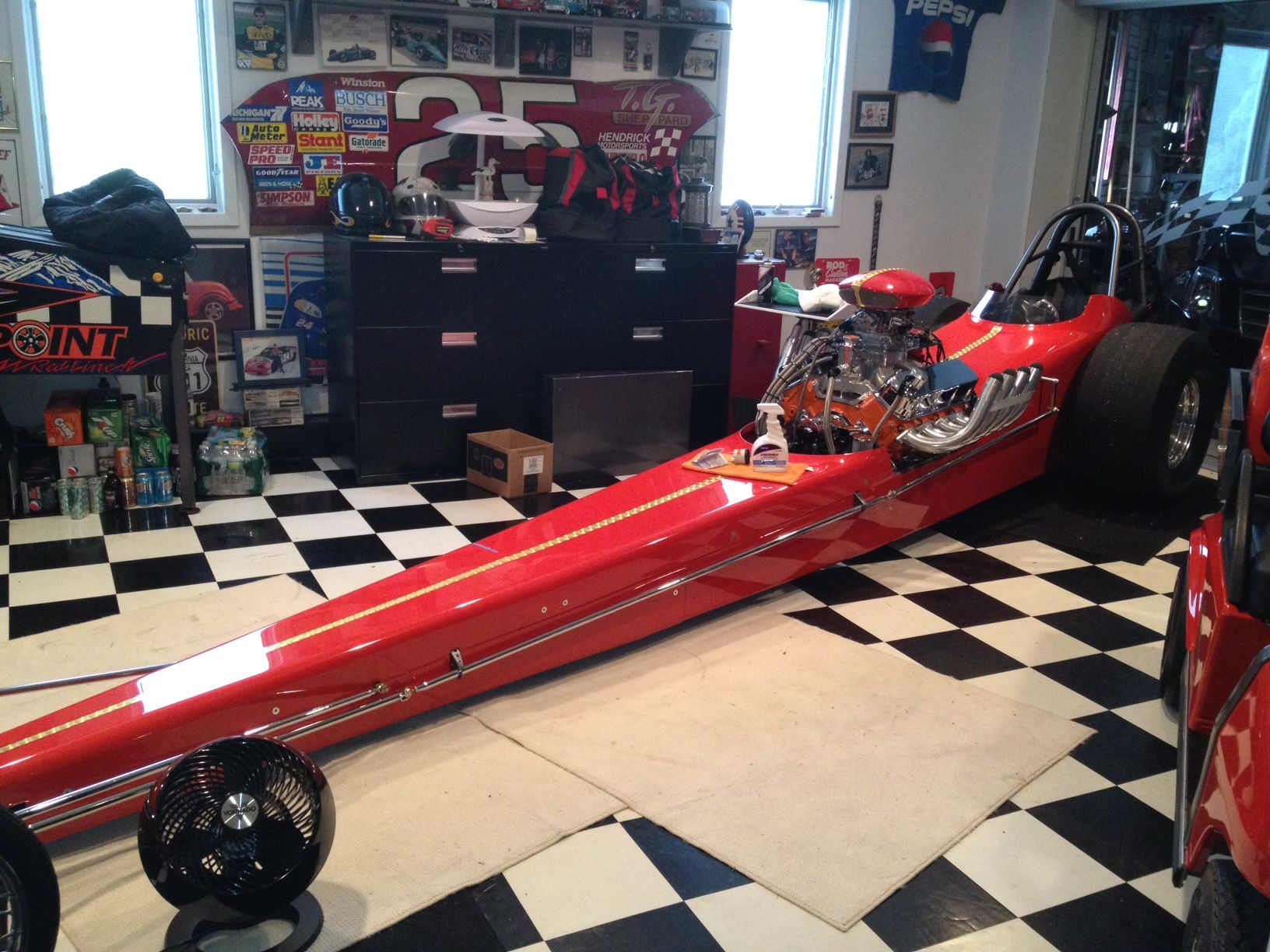 Slightly Used SW Front Engine Dragster W/ Matching Golf