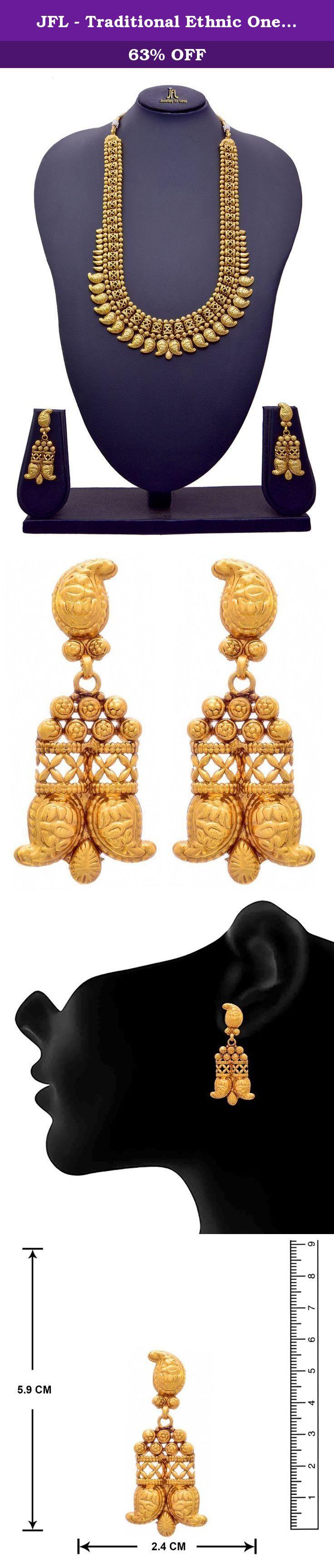 Jfl traditional ethnic one gram gold plated kaerie designer long