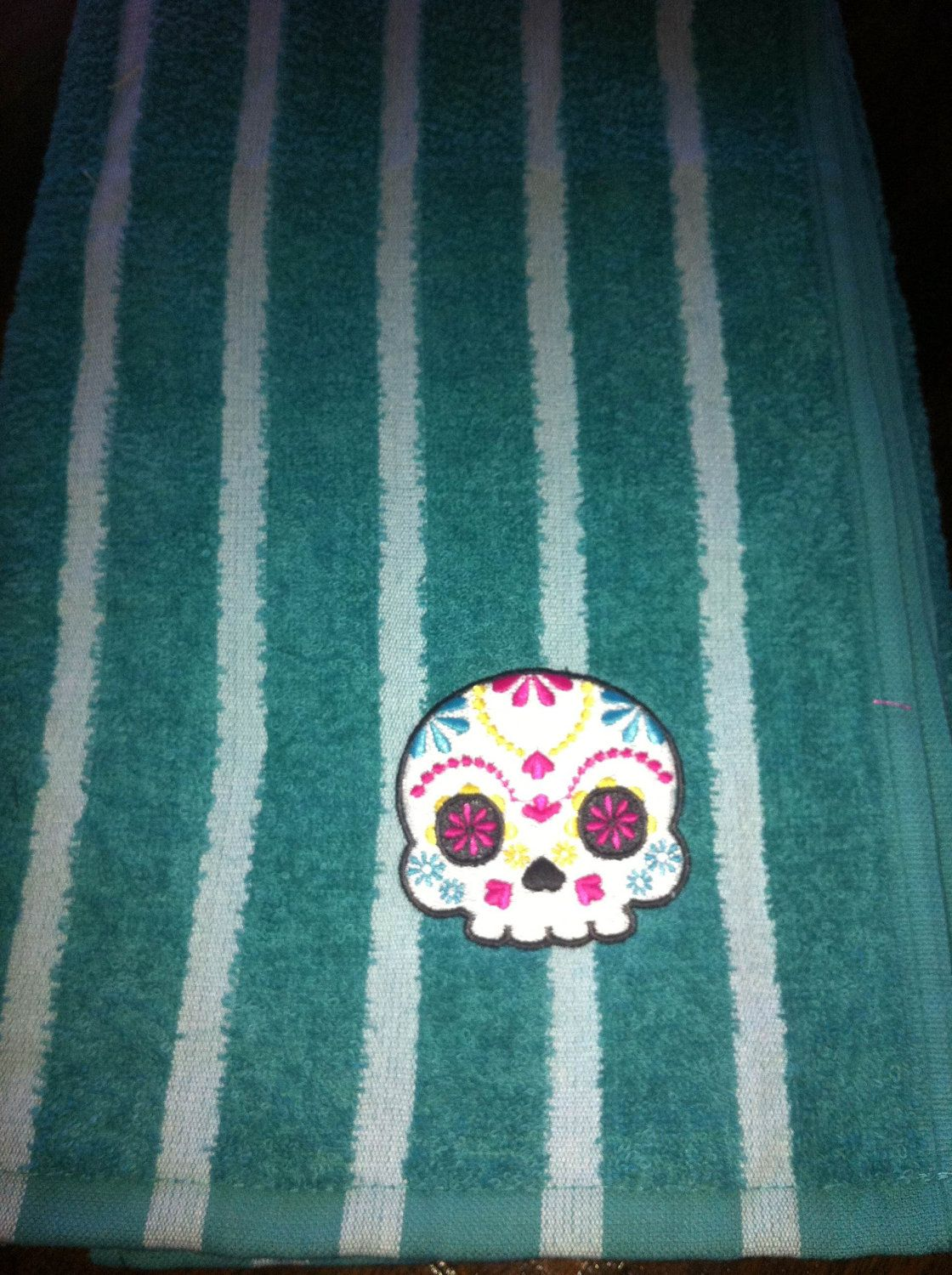 Sugar Skull Beach Towel - Day of the Dead Los Muertos. | Things I ...