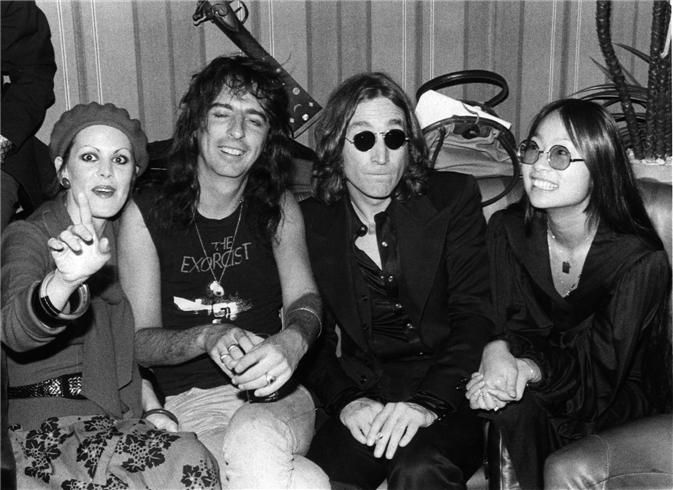 Alice Cooper & John Lennon in 1974