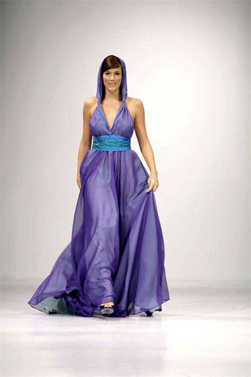 Vestidos de alta costura morados con azul | ❤❤❤...Vestidos ...
