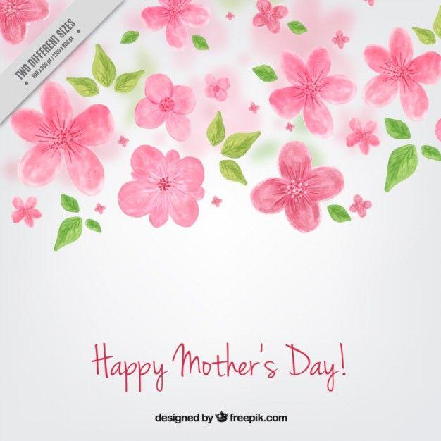 fondo de flores pintadas del día de la madre vector gratis r c