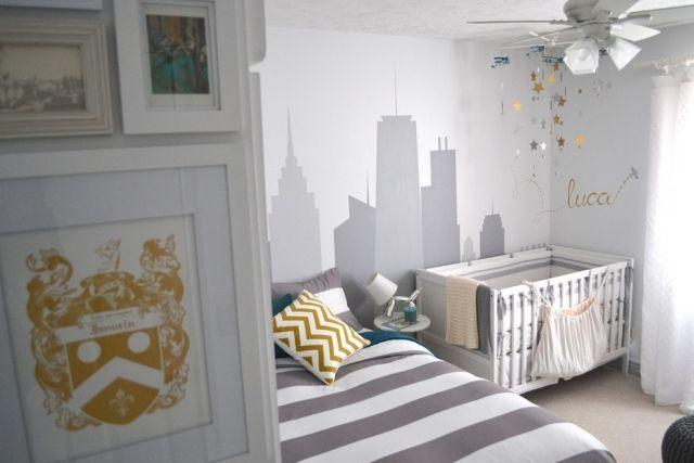 Babyzimmer grau ~ Babyzimmer set hell blau und weiß chambre d enfant