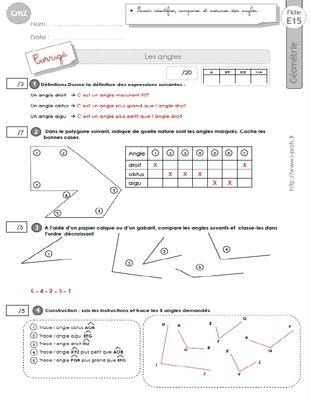 cm2: Leçon Les ANGLES   Géométrie cm2, Cm2, Evaluation ce2